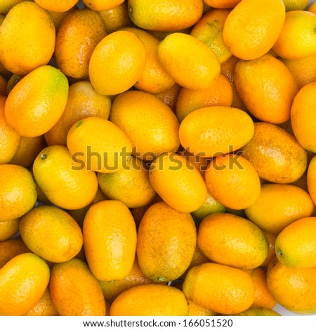 Ripe orange kumquat background