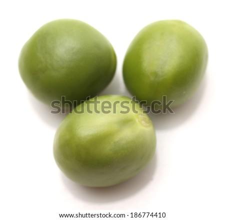 Ripe pea vegetable. Isolated on white background  - stock photo