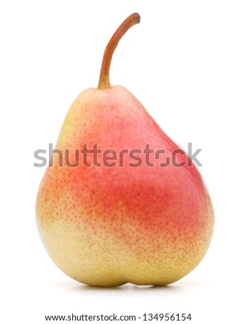 Ripe pear fruit isolated on white background cutout - stock photo