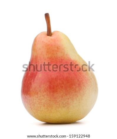 Ripe pear fruit isolated on white background cutout - stock photo