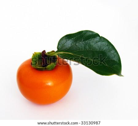 Ripe persimmon - stock photo