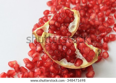 Ripe pomegranate fruit - stock photo