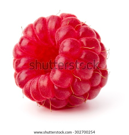 ripe raspberry isolated on white background close up - stock photo