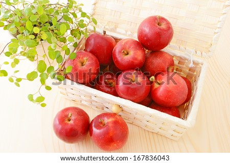 Ripe red apples