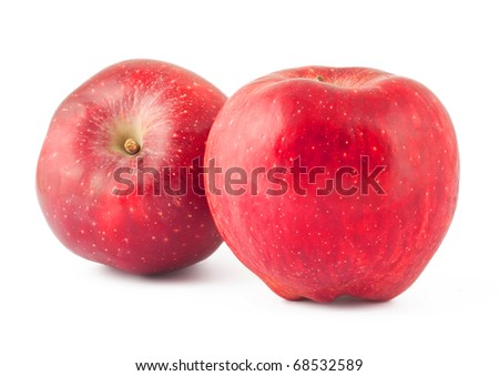 Ripe red apples isolated on a white background