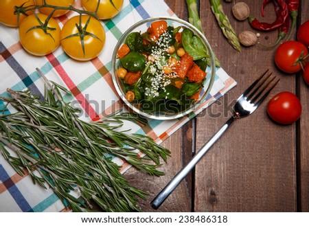 ripe salad - stock photo