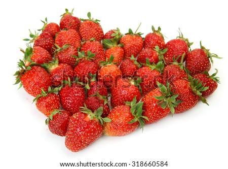 ripe strawberry - stock photo