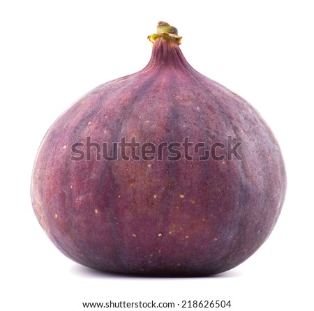 Ripe sweet fig isolated on white background cutout - stock photo