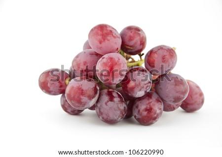 ripe sweet grapes isolated on white background - stock photo