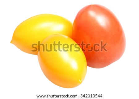 Ripe tomato it is isolated on a white background
