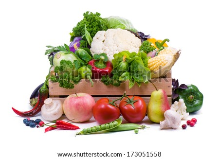 Ripe vegetables.Healthy eating. - stock photo