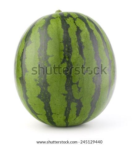 Ripe watermelon isolated on white background cutout - stock photo