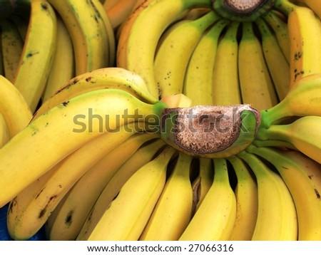 Ripe yellow banana. - stock photo