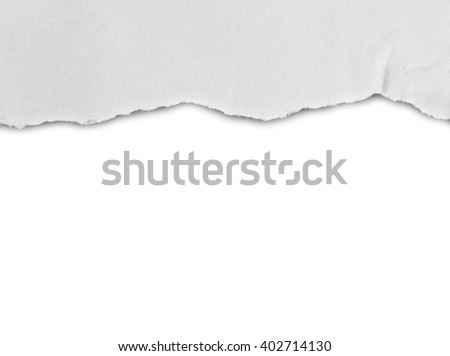 ripped in paper. advertising space - stock photo