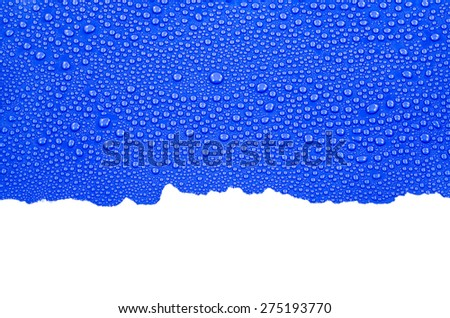 Ripped paper background with water drops - stock photo