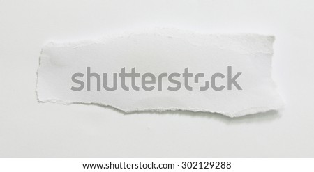 Ripped paper, Pieces of torn paper on plain background. Copy space - stock photo