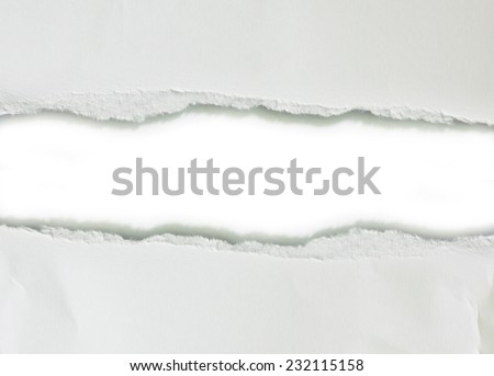 Ripped paper, space for copy - stock photo