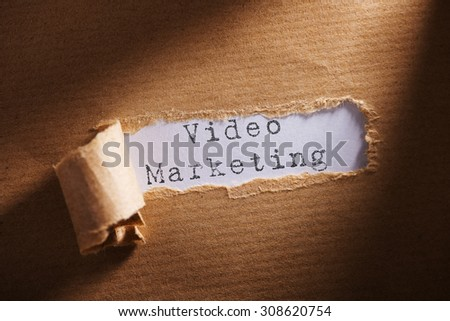 ripped paper with word video marketing - stock photo
