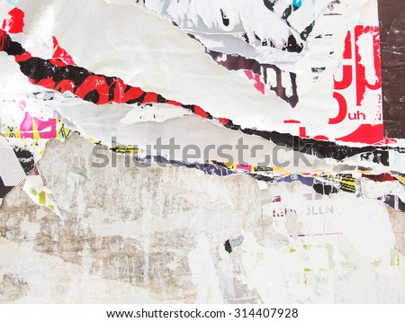 ripped poster, background texture  - stock photo