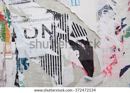 ripped poster grunge texture  - stock photo