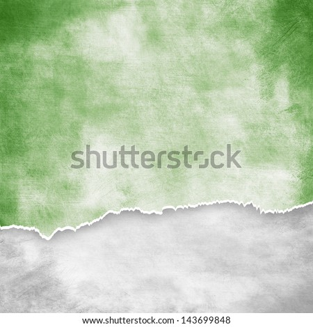 ripped vintage paper on grunge background - stock photo