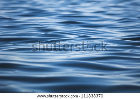 Ripple on the surface of the water, the Baltic Sea