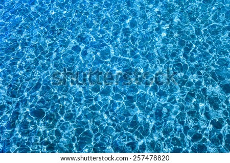 ripple refection of blue water surface - stock photo