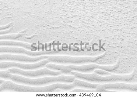 Rippled desert sand in White Sands National Monument, New Mexico. - stock photo