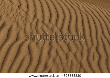 rippled desert sand structure as background or texture