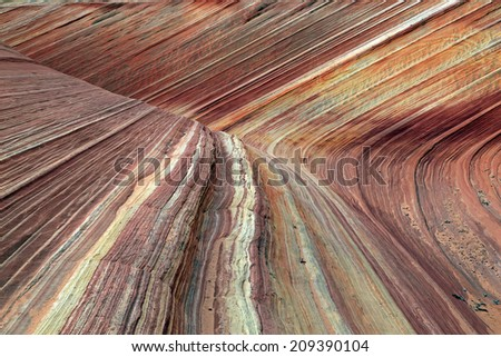 Rippled sandstone in Coyote Butte, Utah, USA. - stock photo