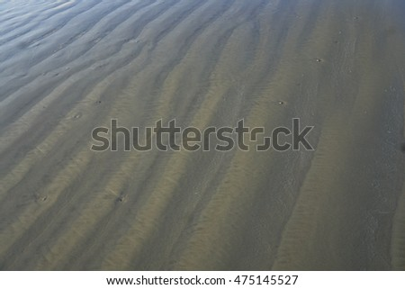 Ripples in the Sand/Beach Texture/Variations of light found on the coast from the waves.