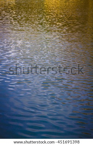 ripples in the surface of a lake