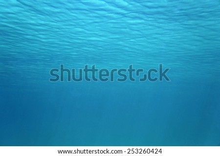 Ripples of underwater surface in the Caribbean sea, natural scene - stock photo