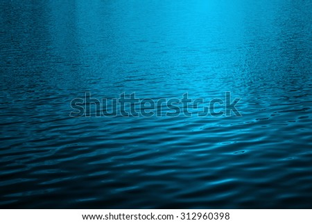 Rippling blue water surface, Water river for background, blue background - stock photo