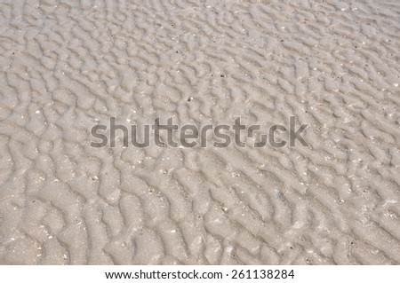rippling sand on a sunlight beach background - stock photo