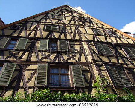Riquewihr village, Alsace - stock photo