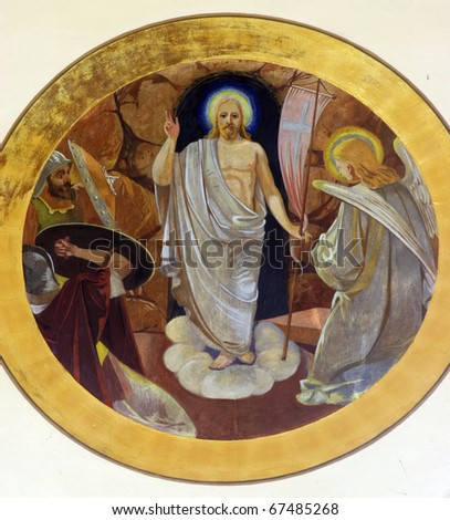 Risen Christ - stock photo