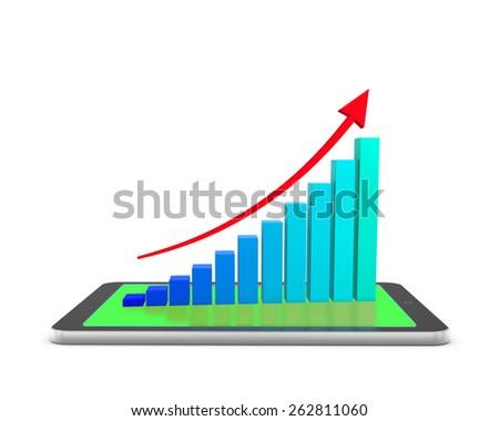 Rising Bar Graph - stock photo