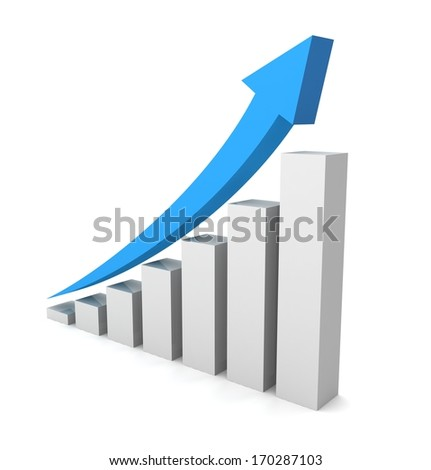 rising business graph
