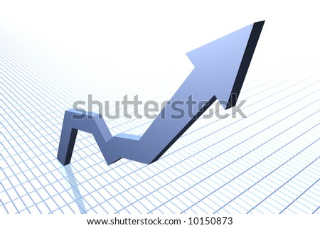 Rising graph - stock photo