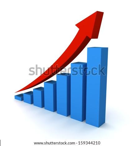 Rising Graph - stock photo