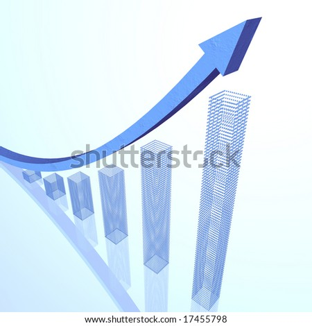 Rising graph 02 - stock photo