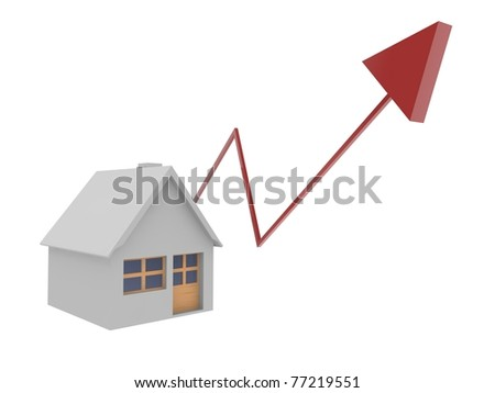 Rising real estate - stock photo