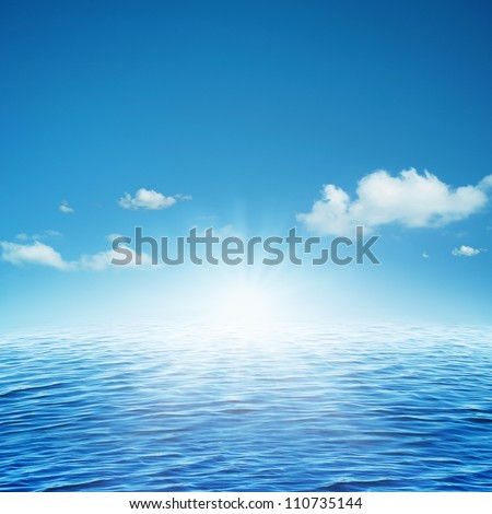 Rising sun.  natural backgrounds - stock photo