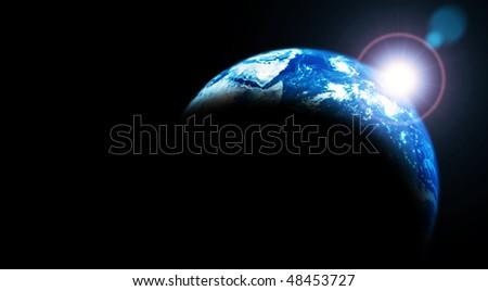 Rising Sun over Earth