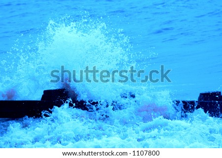 Rising water level - could depict global warming - stock photo