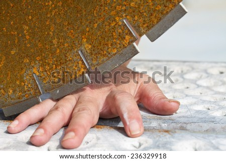 Risk at Workplace - stock photo