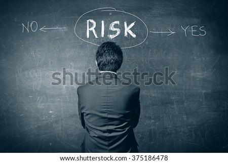 risk concept - stock photo