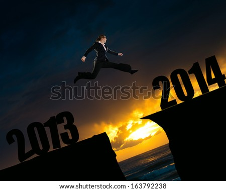 risk free into the new year - stock photo