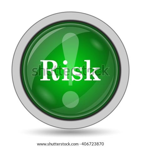 Risk icon. Internet button on white background. - stock photo